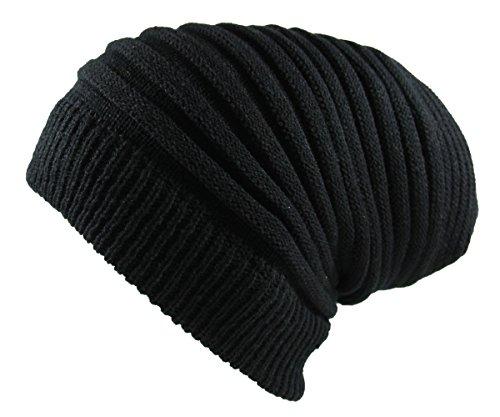 Rasta Long Slinky Beanie Hats Black