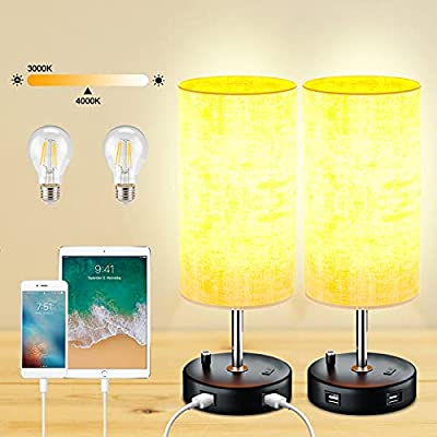 Amazon - 30% Off on 15 Inch Table Lamp Set of 2, Table Lamps with Stepless Dimmable and Memory Function