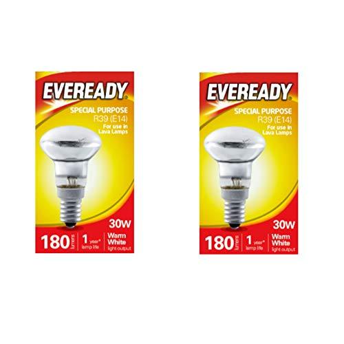 Eveready Reflektor-Birne, R39, 30W, kleine Edison Lava-Lampe x 2