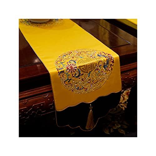 OPIU Camino de Mesa Chino, Mantel de Lujo clásico, Mesa de Comedor para Sala de Estar, Mueble de TV, Mesa de Centro, Bandera de Cama de Tela