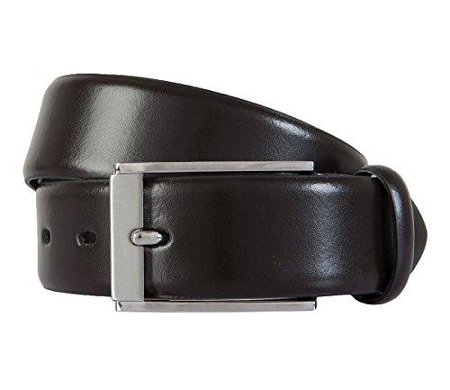 LLOYD Leder-Gürtel dunkelbraun, Länge:85 cm