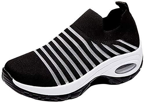Dames sneaker sokken sportschoenen Air luchtkussen hoogte verhoog mesh turnschoenen wandelschoenen voor dames slip on schoenen licht ademend slipvast zwart grijs roze rood groen paars rood wit