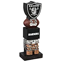 Team Sports America NFL Oakland Raiders 12 Inch Tiki Totem