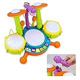 WYJW Instrumento de percusión Educativo para niños, Juego de batería de micrófono de música Instrumento Rompecabezas Juguete Educación temprana Regalo de Juguete Niño Niña
