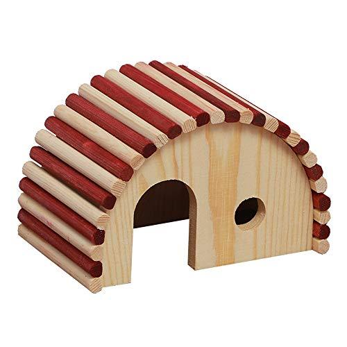 MAATCHH Madera Hamster Escondite Casa de Madera de hámster de Juguete Juego de Mascotas pequeñas Hiding Place Las Aves para Las Ardillas (Color : Picture Color, Size : 15x10x10)
