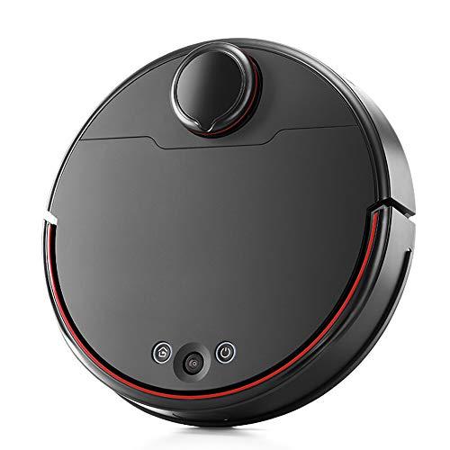 HGFDSA Robot Aspirapolvere, 5000 Pa Forte Aspirazione, Spazzamento E Lavaggio Automatico, Silenzioso Anti-Caduta, WiFi, Ricarica Automatica, per Tappeti per Pavimenti Duri