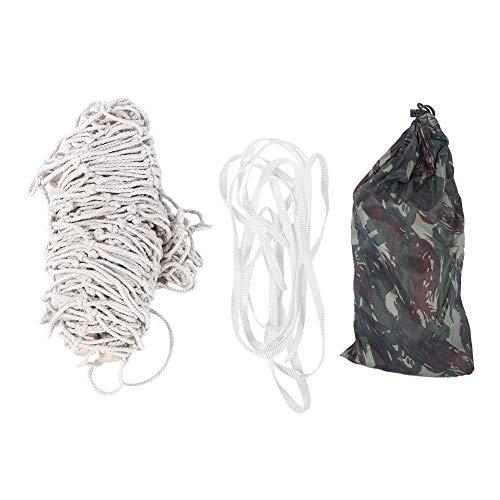 Vicfund Malla portátil Hamaca Individual Cuerda de algodón Palo de Madera Columpio para Colgar en Interiores al Aire Libre para Viajes Hamaca de Malla para Acampar(Hammock)