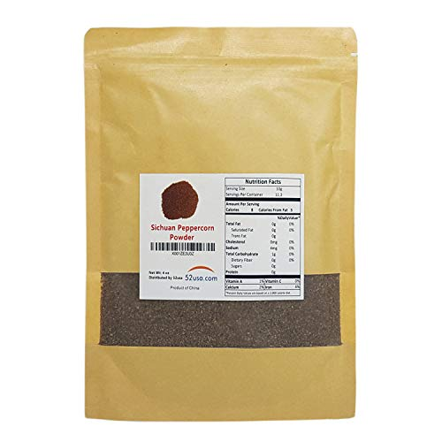 52USA Sichuan Peppercorn Powders(4 OZ), Szechuan Peppercorn Powders, Key Ingredients for Mapo Tofu and Sichuan Dishes