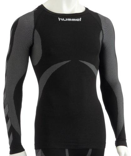 Hummel Sport - T-Shirt Hummel, de Sport - Baselayer Jersey L/S - Taille XL/XXL - Couleur Gris et Noir