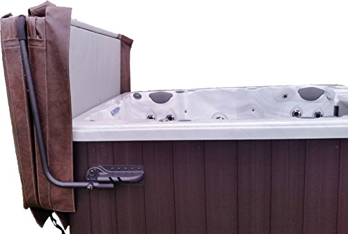 Smart Spa Supply Cover Lift One Side Mounted Hot Tub Lift- Black