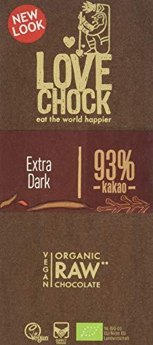 Lovechock Bio Raw Choco vegan, Kakao 93 percent, 70 g