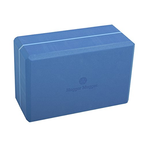 Hugger Mugger 4 in. Foam Yoga Block (Blue)