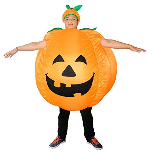 BESTOYARD Disfraz de Calabaza de Halloween para Adultos Disfraz de Calabaza Hinchable Disfraz de Disfraces de Fiesta para Halloween Cosplay Performance (Naranja)