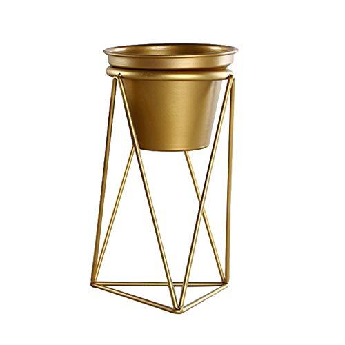 Vasi di Piante Grande vaso da fiori in fiore d'oro con supporto in ferro geometrico Supporto in metallo dorato Supporto da tavolo da interno Vaso da giardino Contenitore Per piante ad aria Per piante