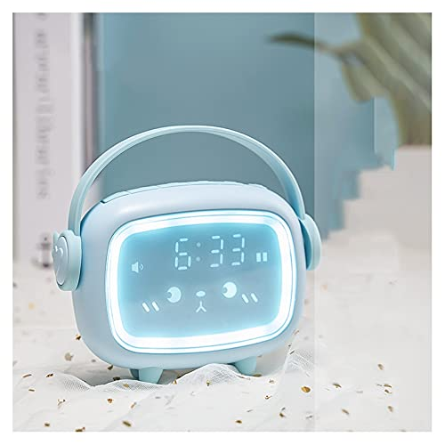 Despertador El nuevo reloj de alarma multifuncional inteligente para que los estudiantes utilicen el lindo artefacto de despertador Luminoso electrónico para niños Despertador digital ( Color : C )