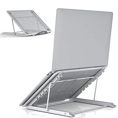 YIYANT - Soporte universal plegable para ordenador portátil con ventilación, soporte ligero y ergonómico de refrigeración para iM (ac)/laptop/computadora portátil/tableta (plateado)