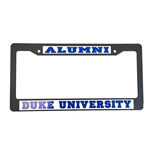 Duke University Alumni Black Plastic License Plate Frame For Front Back of Car
