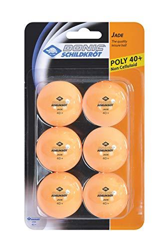 Donic-Schildkröt Tischtennisball Jade, Poly 40+ Qualität, 6 Stück im Blister, orange, M, 618378