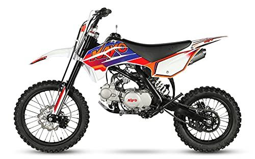 "CENKOO-125 125cc Cross Dirt Bike Pit Bike Schwarz/Rot (17/14\"" Räder)"