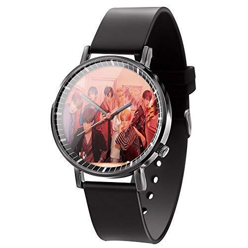 Mini Office Depot K-Pop Bts Uhr Freizeit Leder Quarz Uhren, Bts Armee Geschenk, Passend für Studenten Büro Arbeiter - H02