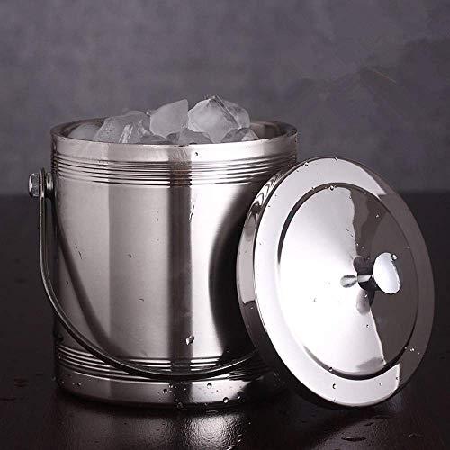 FACAIA Tragbarer Eiskübel mit geradem Gewinde 1L 11,7 * 16 cm für Partys/für Wein-, Cocktail- und Gartengetränkekühler