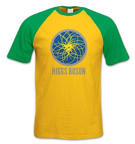 Higgs Boson Baseball-T-Shirt, kurzärmelig - Gelb - Medium/97 cm/ 102 cm Brust