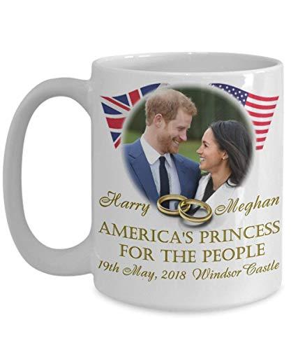 N\A Taza de café Conmemorativa de la Princesa para el Pueblo de América del príncipe Harry y Meghan Tazas de té