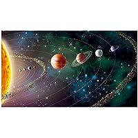 キャンバスに印刷ソーラープラネット風景キャンバス絵画壁アートリビングルームポスターとプリント家の装飾(70x120cm)フレームレス