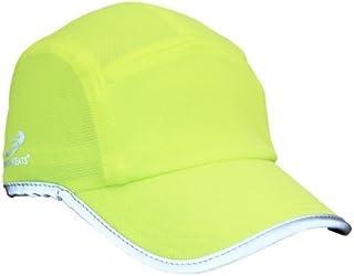 قبعة رياضية عالية الأداء للجري / في الهواء الطلق، عاكسة صفراء عالية الوضوح، مقاس واحد