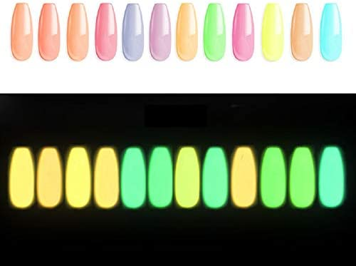 12 Bright and Vibrant Colors Luminated Holographic Acrylic Powder Nail Art Gorgeous Chameleon product image