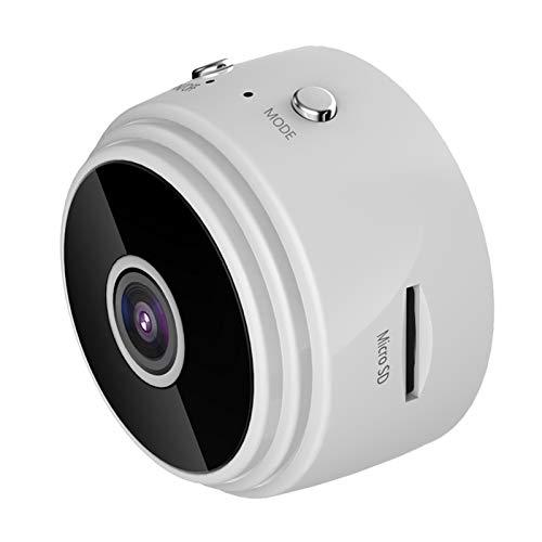 Webcam de Negocios 720p Mini IP WiFi Cámara Cámara Videocámara Inalámbrica Inicio Seguridad Micro Video Cámara Lente de Gran Angular Red de la Noche de Infrarrojos (Color : 02 White)