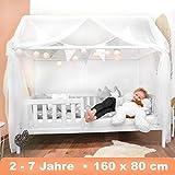Alcube Hausbett 160x80 cm - stabiles Kinderbett mit wechselbarem...