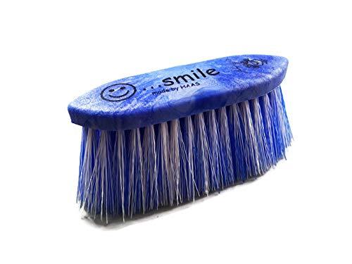 Markgraf Mähnenbürste für Pferde von Haas (8 cm Borsten, blau)