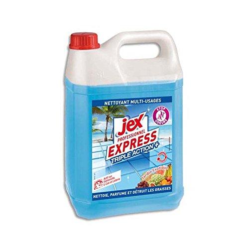 Express Bidon de 5L Nettoyant multi-usages triple action plus parfum Jardin exotique