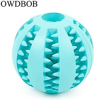 DORLIONA OWDBOB Pet Dog Toys Food Dispenser Ball Funny Interactive Elasticity Rubber Ball Toy Dog Chew Toys Clean Teeth Pe...