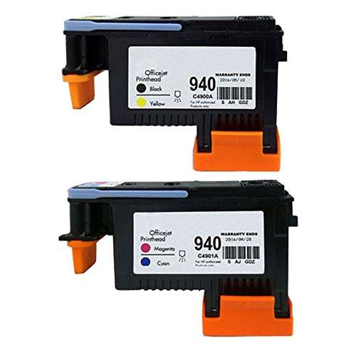 Oyat Druckkopf für HP Officejet Pro 80008500HP 940 C4900A C4901A 8500A 8500A Plus 8500A Premium, 2er-Packung