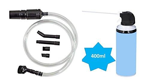 Hama PC-Staubsauger Reinigungs-Set, universell + Druckluftspray mit Sprühverlängerung, 400 ml