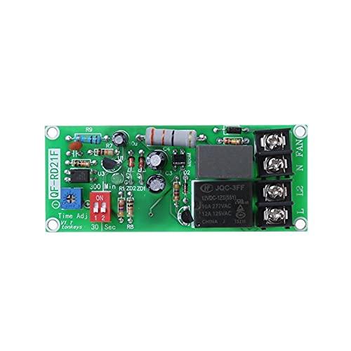 QIANSDZSW Relé AC100V-220V Control de Temporizador Ajustable Módulo de relé de Apagado Tablero de Interruptor de retardo para el Equipo eléctrico del Ventilador de Escape