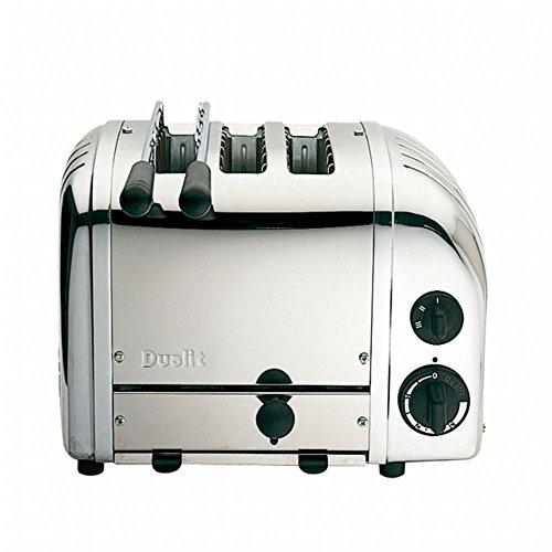 Classic NewGen 2+1-Scheiben Toaster, edelstahl poliert mit Sandwichzange mit EU Stecker