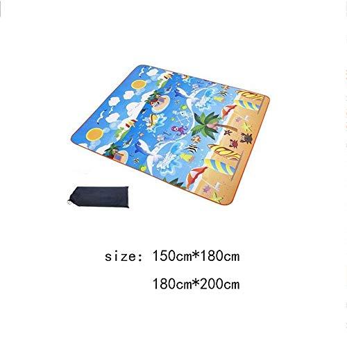SAN Grande Couverture étanche sandproof Plage extérieur Baby Crawl Tapis Lavable à la Machine de Pique-Nique Couverture Haut de Gamme Confortable Matériau léger Pique-Nique Mat (Color : Suit 2)