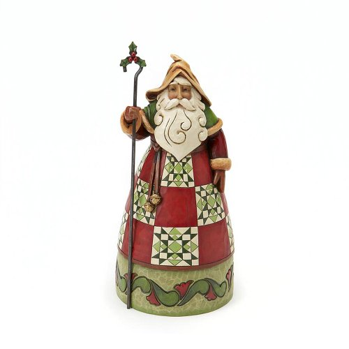 Enesco Jim Shore Heartwood Creek Santa Classic Santa with Cane Figurine 8-3/4-Inch
