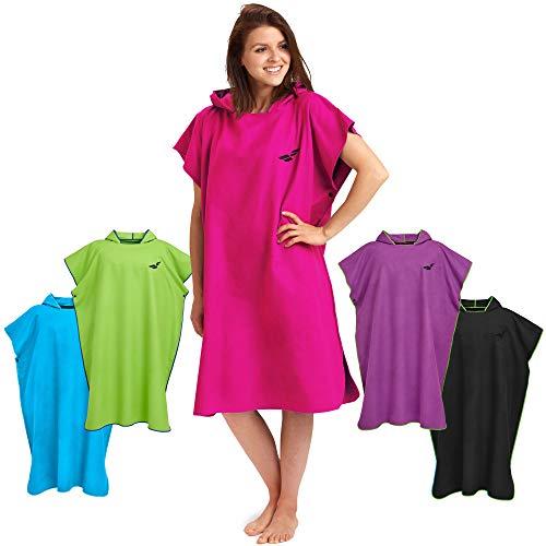 Fit-Flip Umziehhilfe Strand, Surf Poncho, Umkleidehilfe Damen, Surf Poncho Ultra leicht, Handtuch Poncho – Größe L, pink
