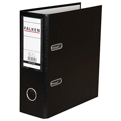 Falken - Raccoglitore ad anelli formato A5, verticale verticale ampio Nero
