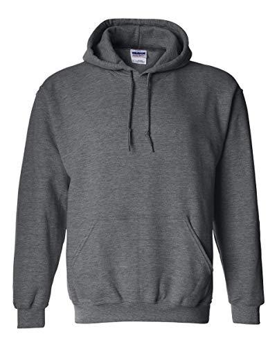 Gildan Herren Adult 50/50 Cotton/Poly. Hooded Sweat Sweatshirt, Gr. M, GraphitHeather