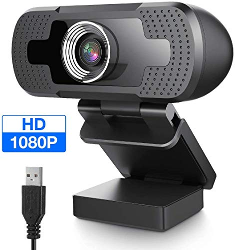 USB Webcam 1080P with Full HD Microphone PC Camera Desktop Streaming Webcam for Recording, Zoom, YouTube, Skype, Video Calls, Studio, Conference, Supports Windows, Android, Linux-1080P (1080P)