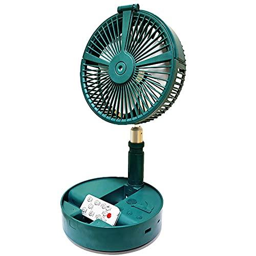 XIAOLINGTONG Ventilador Telescópico Portátil con Control Remoto Ventilador USB Humidificador E Hidratante Spray Silencioso Ventilador Plegable con Luz Nocturna para Oficina En Casa (Color : Blue)