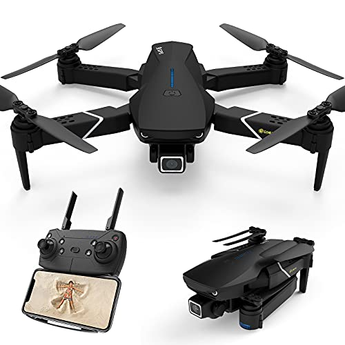 EACHINE E520S GPS Drone with 4K Camera for Adults,5G WIFI FPV Live Video Foldable Drone GPS Return home 1200Mah 16mins Flight Time Follow Me RC Drone Quadcopter for Beginners