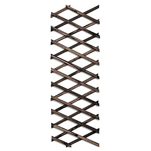 Holz Trellis, Gartenzaun Rankhilfe Rankgitter zusammenfaltbar variabel verstellbar, Zaun Garten Für Kletterpflanzen, Größe, Wenn Gefaltet-17.32x9.06CM maximal Sich Entfaltet-200X30CM