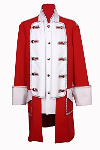 M&G Atelier Karnevals Jacke Rot Weiss Karnevalskostüm Köln Kostüm Fasching Uniform Gehrock (50)