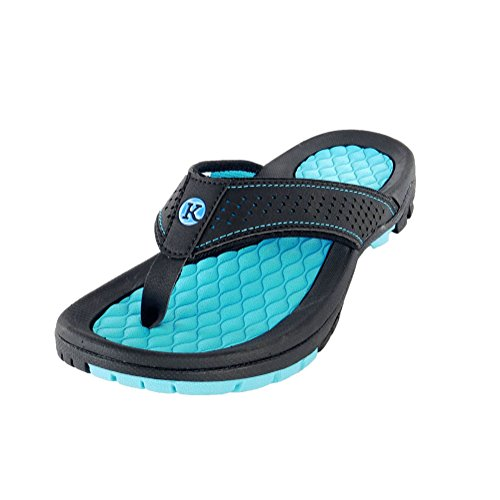 Kaiback - Men's Drifter Sport Flip Flops   Comfortable Durable Rubber and Heavy-Duty Tread